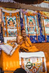 (12827_sl.tif) Lama Yeshe teaching at the 12th Meditation Course at Kopan Monastery, Nepal, 1979. Murray Wright (photographer)