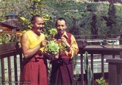 (12957_pr-3.psd) Lama Yeshe and Gyaltrul Rinpoche, California, 1978. Jon Landaw (photographer)