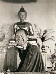 (13331_pr.tif) Lama Yeshe teaching at Chenrezig Institute, Australia,1979.