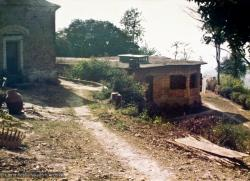 (15051_pr-1.psd) The old house at Kopan, 1969, before construction of Kopan Monastery, the primary teaching site for Lama Yeshe and Lama Zopa Rinpoche.