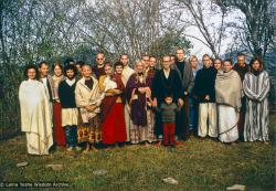(15085_pr.tif) Zengo in a group photo, 1971. While in Bodhgaya, Zina Rachevsky had become interested in Zengo, a young Zen monk; she invited him to teach a ten-day course at Kopan Monastery. Zina is second from the right in the back; also in the photo is Sylvia White, Mark Shaneman, Michael Losang Yeshe (Michael Cassapidis), and Fred von Allmen.