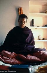 (15087_pr.psd) Zina Rachevsky in Bodhgaya, India, 1971, to attend His Holiness Dalai Lama's annual January teachings
