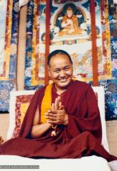 (15129_pr.psd) Lama Yeshe, Kopan Monastery, Nepal, 1980. Unknown photographer.