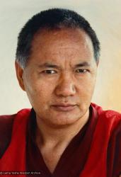 (15133_pr.psd) Portrait of Lama Yeshe, Geneva, Switzerland, 1983. Photos by Ueli Minder.