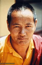 (15191_pr.psd) A portrait of Lama Yeshe by Lynda Millspaugh, Kopan Monastery, Nepal, 1973.