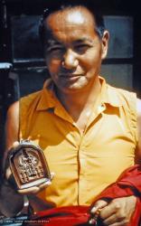 (15192_pr.psd) A portrait of Lama Yeshe by Lynda Millspaugh, Kopan Monastery, Nepal, 1973.