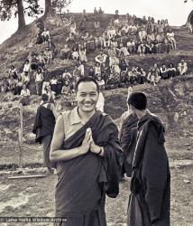 (15199_ng.psd) Lama Yeshe in group photos from the Fourth Meditation Course, Kopan Monastery, Nepal 1973