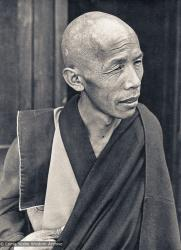 (15204_pr-3.psd) Lama Lhundrup Rigsel at Kopan, ca 1973. He was one of Lama Yeshe's students from Buxa Duar who came to Kopan Monastery, Nepal in 1973 to help run the monastery and teach the Mount Everest Centre (MEC) children.