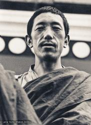 (15205_pr-3.psd) Lama Pasang Tsering at Kopan, ca 1973. He was one of Lama Yeshe's students from Buxa Duar who came to Kopan Monastery, Nepal in 1973 to help run the monastery and teach the Mount Everest Centre (MEC) children.