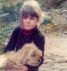 (15210_pr.tif) Zina Rachevsky's daughter Rhea. From photos taken in the spring of 1973 while Zina Rachevsky was on a long retreat at Thubten Choling, monastery of Trulshik Rinpoche in the lower Solu region of Solu Khumbu near Junbesi, Nepal. Zina died while on this retreat in August of 1973.