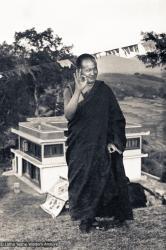 (15214_ng-3.psd) Lama Yeshe on the hill above Kopan Monastery, Nepal, 1972.