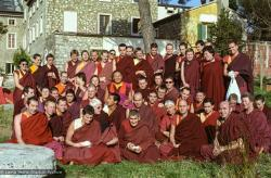 (15237_ng.tif) Lama Yeshe addressing western monks and nuns at Istituto Lama Tsongkhapa, Italy, 1983. Photos donated by Merry Colony.