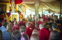 (15474_ng.psd) In April of 1974, H. H. Zong Rinpoche, a senior lama and teacher for Lama Yeshe, visited Kopan Monastery, Nepal, in time to give teachings during the last week of the Sixth Meditation Course.