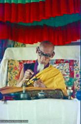 (15477_ng.psd) In April of 1974, H. H. Zong Rinpoche, a senior lama and teacher for Lama Yeshe, visited Kopan Monastery, Nepal, in time to give teachings during the last week of the Sixth Meditation Course.