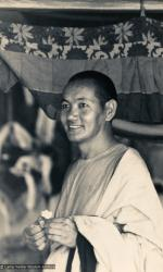 (15530_pr-2.psd) Lama Yeshe after the Sixth Meditation Course, Kopan Monastery, Nepal, 1974. Photo by Ursula Bernis.