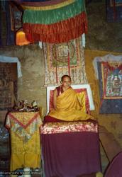 (15589_pr.tif) Lama Zopa Rinpoche teaching. Photo from the 8th Meditation Course at Kopan Monastery, Nepal, 1975.