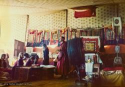 (15841_pr.psd) Nick Ribush, Lama Zopa Rinpoche's assistant for the Seventh Kopan Course, giving an introductory lecture to the new students, Kopan, November 1974.