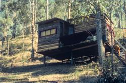 (15847_ng.tif) The lama's cabin at Diamond Valley. The lamas taught their first retreat in Australia at Diamond Valley in southeast Queensland, August, 1974.