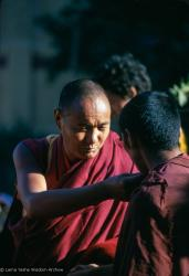 (15862_sl.tif) Lama Yeshe attending the Kalachakra empowerment in Bodhgaya, India, 1974.