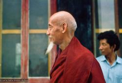 (15863_sl.tif) In April of 1974, H. H. Zong Rinpoche, a senior lama and teacher for Lama Yeshe, visited Kopan Monastery, Nepal, in time to give teachings during the last week of the Sixth Meditation Course.