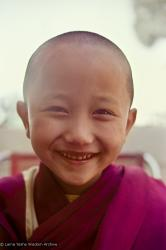 (15894_ng.psd) Yangsi Rinpoche, 1975. Kelsang Puntsog Rinpoche, the son of Lama Yeshe's old friend Jampa Trinley, was later recognized to be the reincarnation of Geshe Ngawang Gendun, one of Lama's teachers. In January 1975 he was enthroned at Kopan Monastery, Nepal, after which he became known to all as Yangsi Rinpoche.