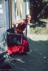 (15902_sl.tif) Nick Ribush at Tushita Retreat Centre, Dharamsala, India, 1975