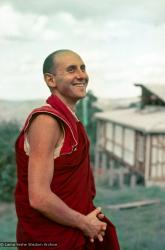 Portrait of Nick Ribush during the month-long course at Chenrezig Institute, Australia, 1975.