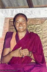 (15914_ng.tif) Lama Yeshe teaching, 1975. From the collection of images of Lama Yeshe, Lama Zopa Rinpoche and the Sangha during a month-long course at Chenrezig Institute, Australia.