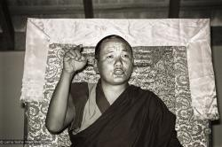 (15982_ng.tif) Lama Yeshe teaching, 1975. From the collection of images of Lama Yeshe, Lama Zopa Rinpoche and their students during a month-long course at Chenrezig Institute, Australia.