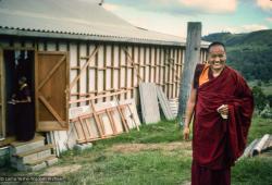 (15992_sl.jpg) Photo of Lama Yeshe during the month-long course at Chenrezig Institute, Australia, 1975.