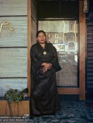 (15996_sl-3.psd) Lama Yeshe's half-sister, Chozom Wong, 1975. (Outside the Ginza Restaurant at the York Hotel.)