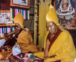 (16475_pr-3.tif) Long life puja for Lama Yeshe, Tushita Retreat Centre, Dharamsala, India, 1982. Dan Laine (photographer)