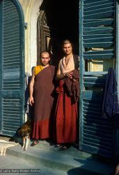 (16691_sl-3.psd) Claudio Cipullo and Piero Cerri at Istituto Lama Tsongkhapa, Pomaia, Italy, 1979.