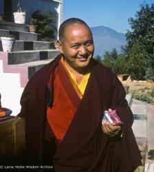 (16932_pr-3.psd) Lama Yeshe, Kopan Monastery, 1977.