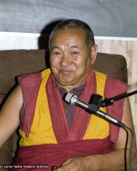 (17116_ng.TIF) Lama Yeshe was invited to Sweden for one week in September 1983. Here at Etnografiska Museet in Stockholm he gave a public teaching on Death, Intermediate State and Rebirth. Photos by Holger Hjorth.