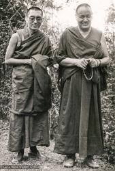 (17503_pr-3.psd) Lama Yeshe and Lama Zopa Rinpoche, Kopan Monastery, 1978. Robin Bath (photographer)
