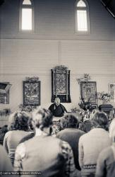 (17560_ng-3.psd) Lama Yeshe teaching at Atisha Centre, Bendigo, Australia, 1981. Ian Green (photographer)