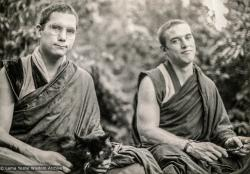 (21673_pr-3.psd) Chris Kolb (Ngawang Chotak) and Thubten Pende (Jim Dougherty), California, 1976.