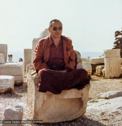 (21900_pr-3.tif) Lama Yeshe on vacation in  Athens, Greece, 1980.