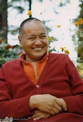 (22008_pr.tif) Lama Yeshe at Tushita Retreat Centre, Dharamsala, India, 1979.