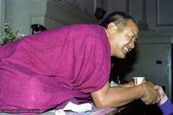 (22158_ng.tif) Lama Yeshe teaching at Malvern Town Hall, Australia, 1979.