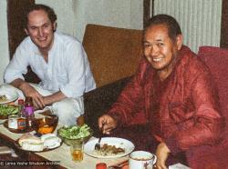 (22426_ng-3.tif) Lama Yeshe with Hugh Clift, London, England, 1980.