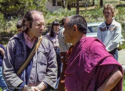 (22558_ng-3.jpg) Lama Yeshe with Jon Landaw, Grizzly Lodge, 1980.