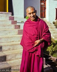 (22828_ng.psd) Lama Zopa Rinpoche at Kopan Monastery, Nepal, 1979. Ina Van Delden (photographer)