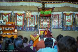 (22831_ng.tif) Lama Yeshe teaching at the 12th Meditation Course at Kopan Monastery, Nepal, 1979. Ina Van Delden (photographer)