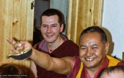 (23289_ng-3.psd) Steve Carlier with Lama Yeshe, Istituto Lama Tzong Khapa, Italy, 1978.