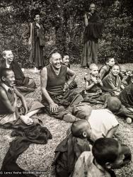 (23323_ng.tif) Once a year Lama Yeshe liked to take all the Mount Everest Centre boys and whoever else was around on a celebratory picnic. This year (1979) they went to the famous Hindu water gardens in the Kathmandu suburb of Balaju, Nepal.