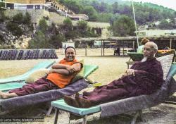 (23348_ng-3.psd) Lama Yeshe and Zong Rinpoche on vacation, Ibiza, Spain, 1978.