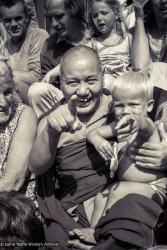 (23488_ng-3.psd) Lama Yeshe at Maitreya Institute, Bruchem, 1981. Ina Van Delden (photographer)