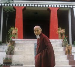 (24307_sl-3.TIF) Zong (Song) Rinpoche at Kopan Monastery, 1974. Jeff Nye (photographer)